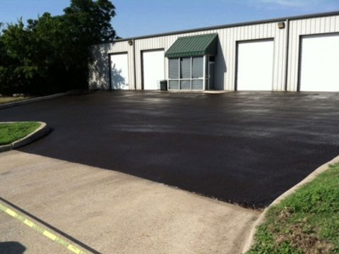 Asphalt Parking Lot at Warehouse