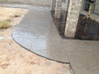 Textured and Patterned Concrete Patio
