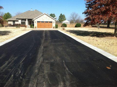 Cement Stabilized Asphalt Driveway